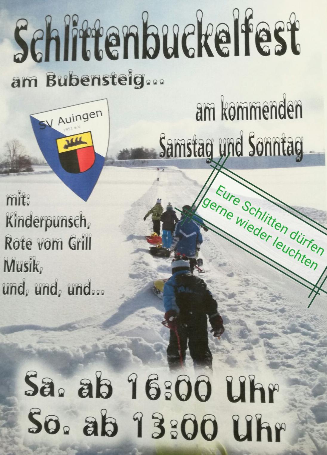 Schlittenbuckelfest 2019